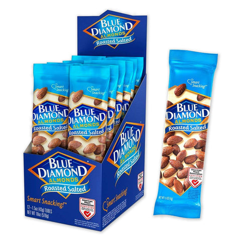 BLUE DIAMOND Roasted Salted Almonds Nut Snacks - 12 Count
