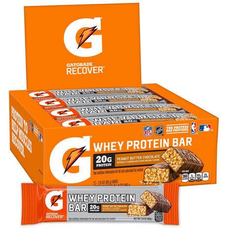 GATORADE Peanut Butter Chocolate Protein Bars - 12 Count