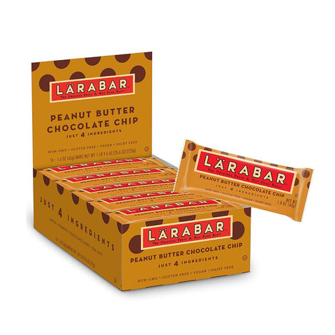 LARABAR Peanut Butter Chocolate Chip Snack Bar - 16 Count