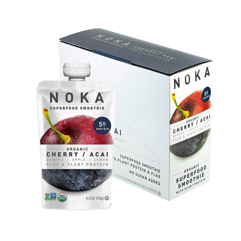 NOKA Cherry Acai Superfruit Smoothie - 6 Count