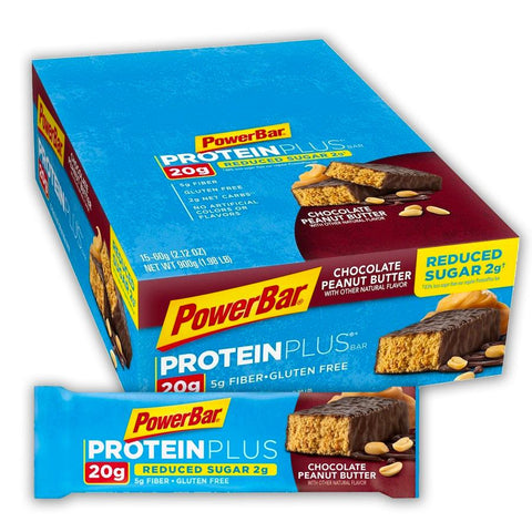 POWERBAR Chocolate Peanut Butter 2.12 oz. Protein Plus Bars - 15 Count