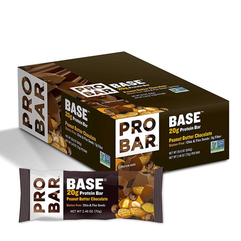 PROBAR Peanut Butter Chocolate 2.46 oz. Protein Bars - 12 Count