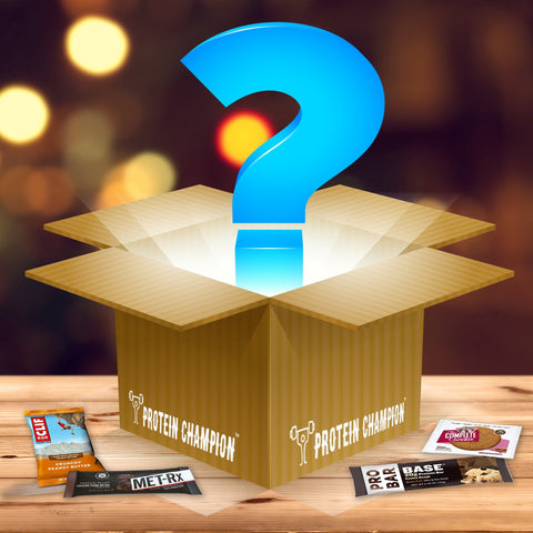 Protein Champion SURPRISE ME Assortment Mystery Box of Protein & Snack Bars - 12 Count