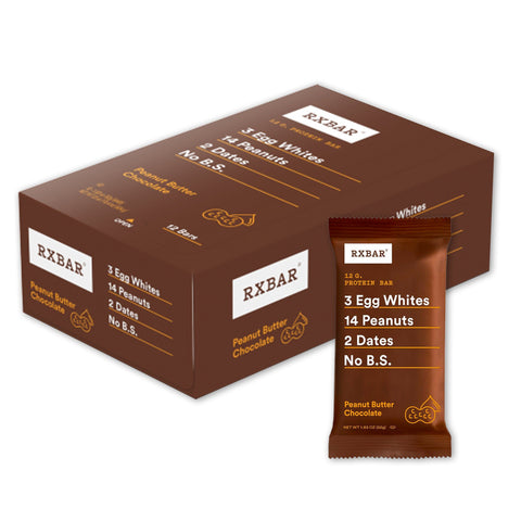 RXBAR Peanut Butter Chocolate Protein Bars - 12 Count
