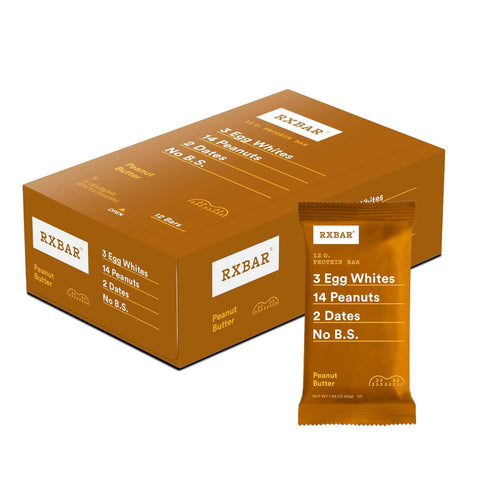 RXBAR Peanut Butter Protein Bars - 12 Count