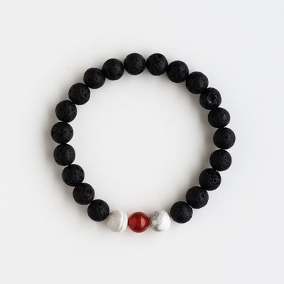 Diffuser Bracelet with Red Bead