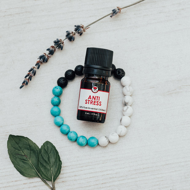 Diffuser Bracelet Gift Set Block of Turquoise with Anti Stress