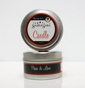 Peace & Love Soy Candle
