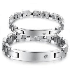 2018 New Lovers Magnetic Health Stainless Steel Bracelets Bangles