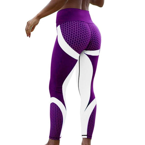 Vertvie Honeycomb Printed Women Yoga Pants Sport Leggings