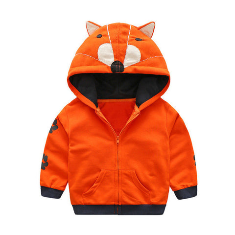 Animal Pattern Zipper Hoodie