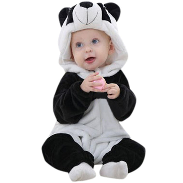 Panda Cartoon Hooded Romper