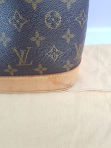 Authentic Louis Vuitton Alma Monogram consignment