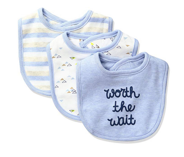 Sterling Baby by Vitamins Baby Boys' 3 Pack Bib - Skidders.com