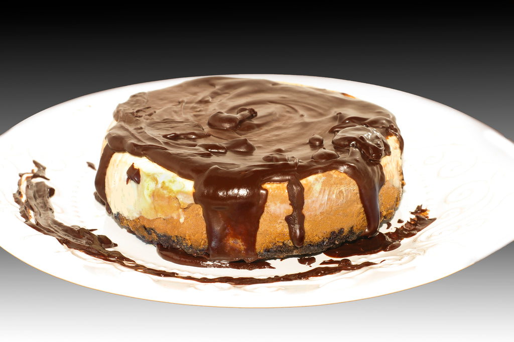 Gluten Free, Lite Bailey's Chocolate Cheesecake