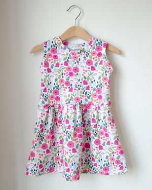 Floral Twirl Dress Baby Toddler