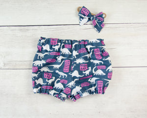 Dinosaur Rawr Baby Toddler Bloomers or Skirt Outfit