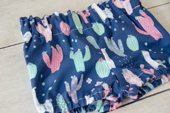 Blue Llama Baby Toddler Bloomers or Skirts