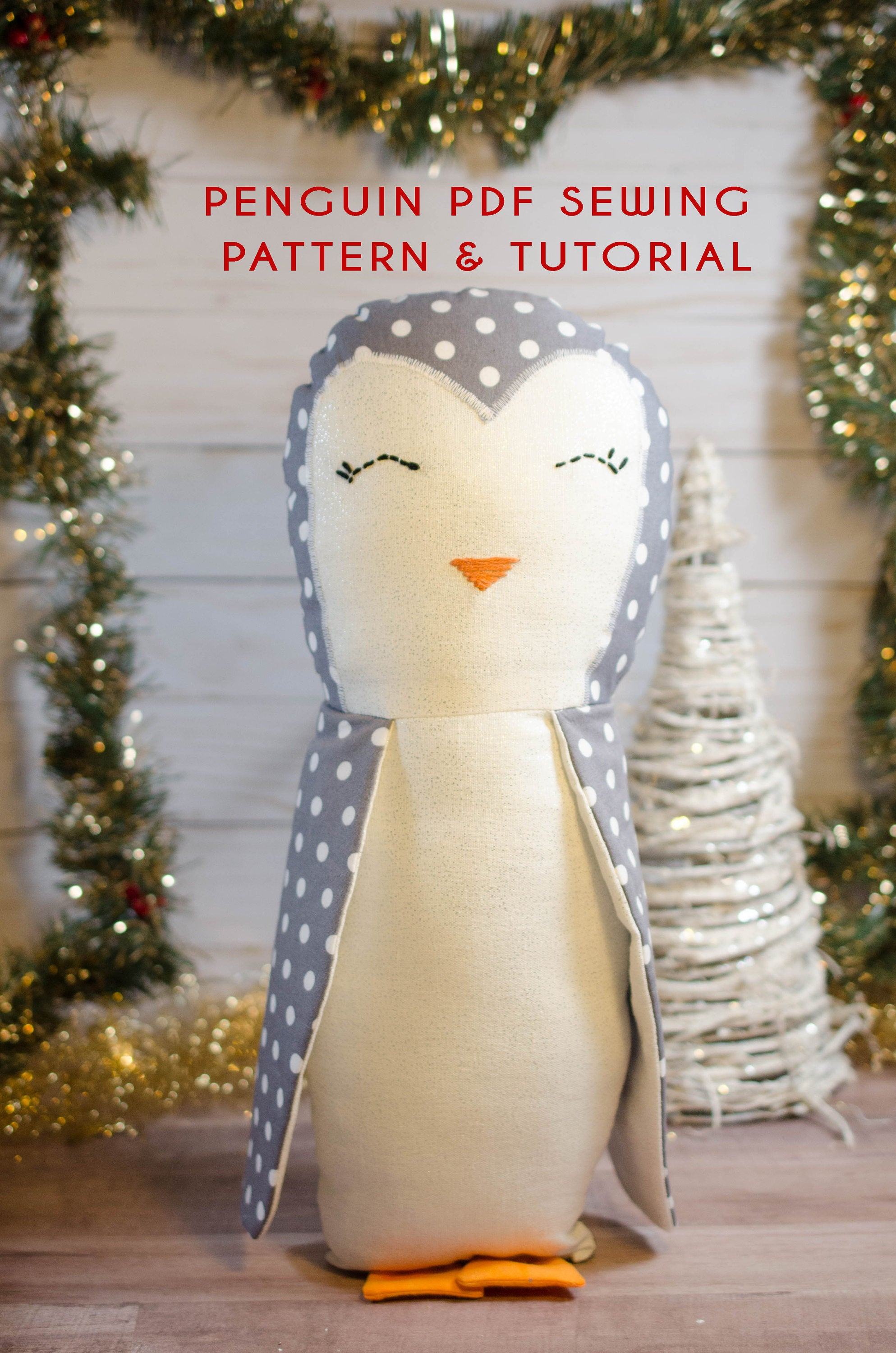 Penguin PDF Sewing Pattern Instant Download