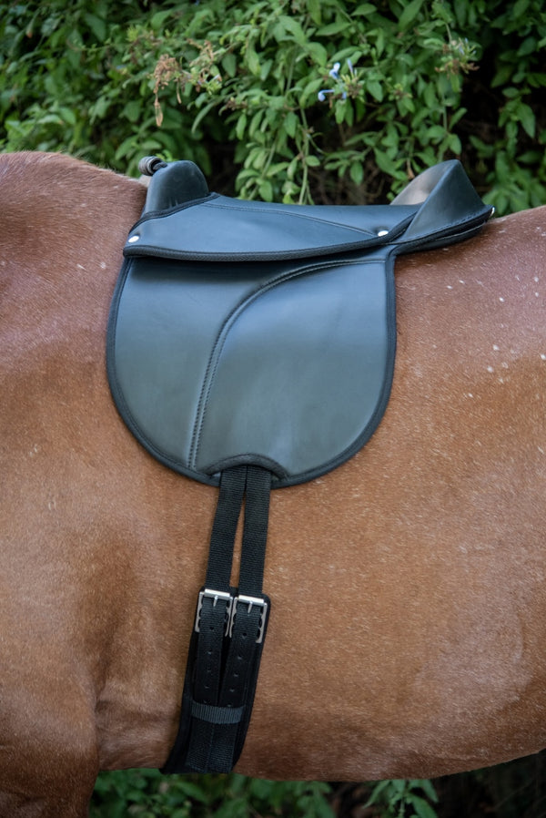 ST-PSD/001 Black Synthetic Pony Treeless Saddle