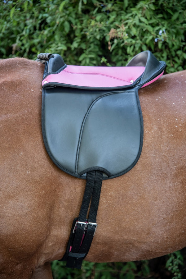 ST-PSD/002 Pink & Black Synthetic Pony Treeless Saddle