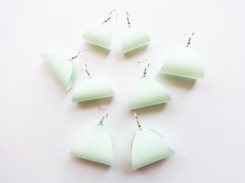 Waterproof Mint Vegan Pool Earrings