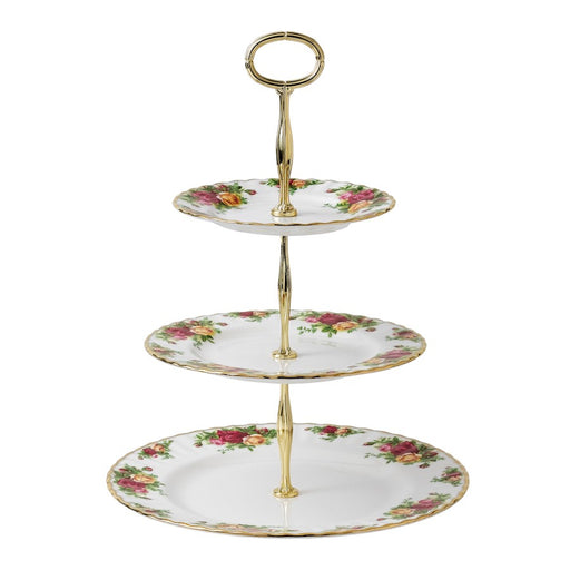 Royal Albert Old Country Roses 3-Tier Cake Stand