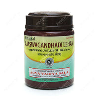 Kottakkal Ayurvedic Medicine Ajaswagandhadi Lehyam (Ashwagandhadi Lehyam) is used to General & sexual debility, emaciation, post natal care etc.,