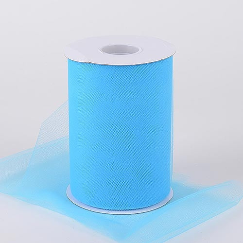 Pre-Order Now and Ship on July 18th! - Turquoise 6 Inch Tulle Fabric Roll 100 Yards