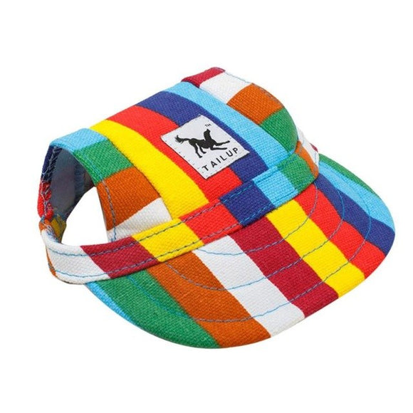 TAILUP 2018 Hot Sale Small Pet Summer Canvas Cap