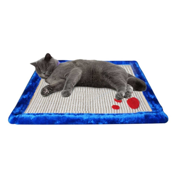 Cat scratching bed