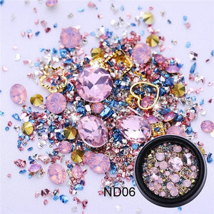 Mixed Rhinestones Nail Art Decoration