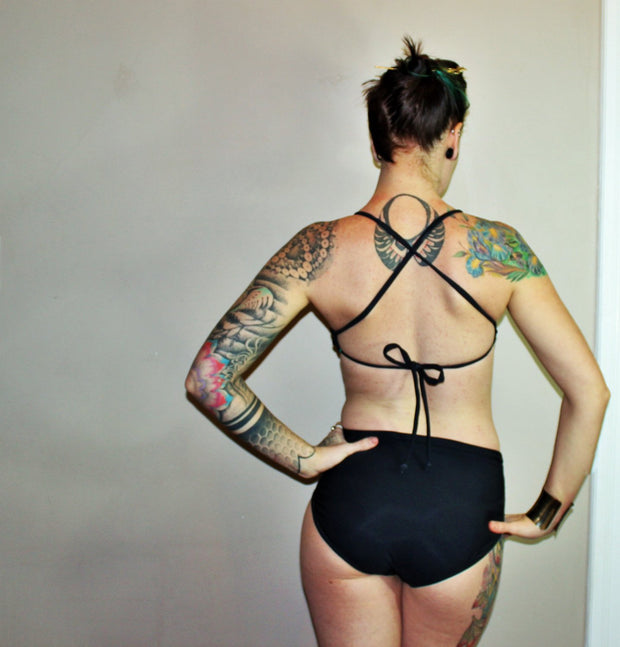 High Waisted  Swim Bottoms - Origami Customs
