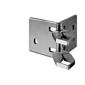 Square Line Corner Adjustable Fascia Mount Baluster Bracket (Outdoor)