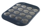 16 Silicone Fluted Mini-Tartlet Baking Pan - Grey Translucent