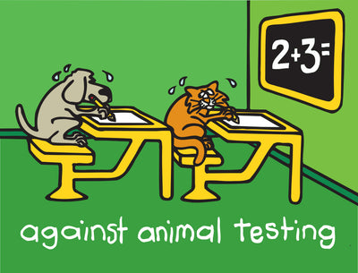 "Against Animal Testing Limited Edition AP Giclee 34"" x 27"""