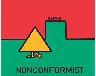 "Nonconformist Acrylic On Canvas Original 36""x36"""