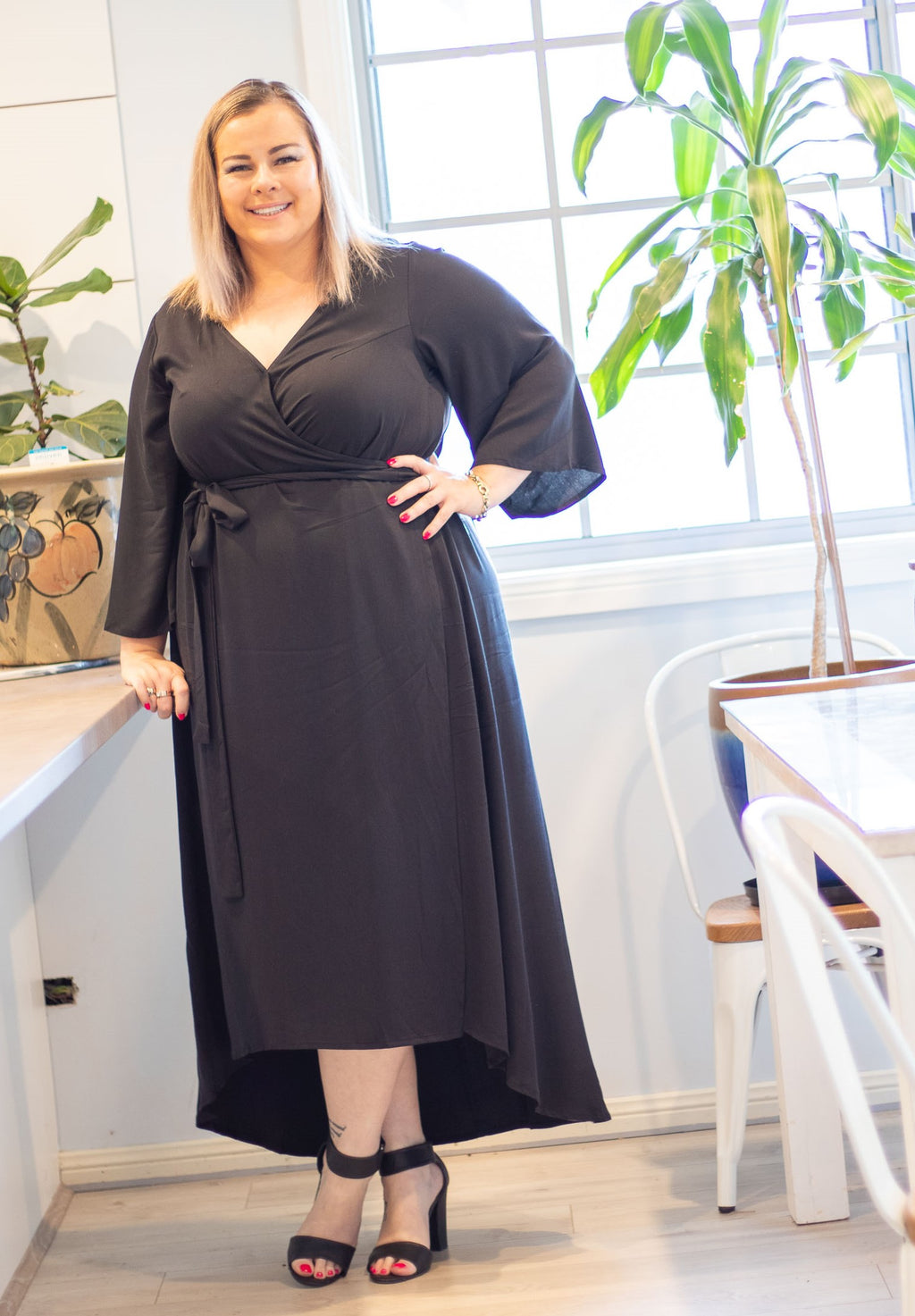 Aussie Curve Wrap Dress - Curvy BD