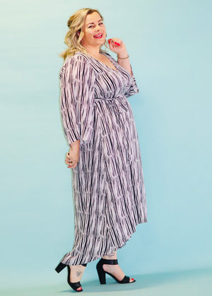 Aussie Curve Wrap Dress - Willow