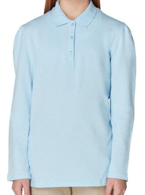 GIRLS LONG SLEEVE STRETCH POLO