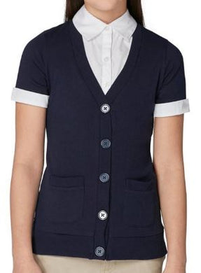GIRLS SHORT SLEEVE 2-FER CARDIGAN