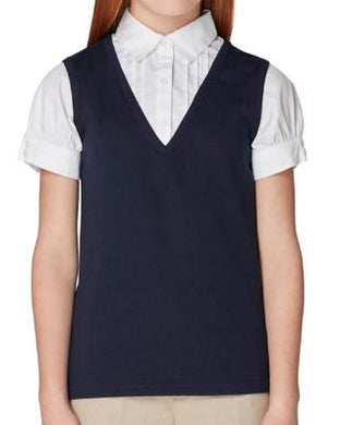 GIRLS SHORT SLEEVE 2-FER VEST