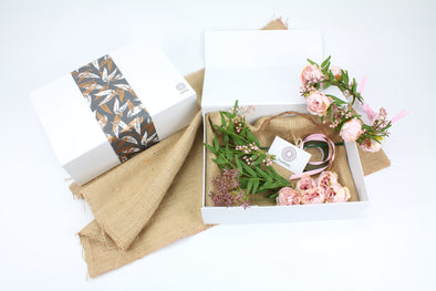 DIY Flower Crown Gift Box - Pale Pink mini Peonies