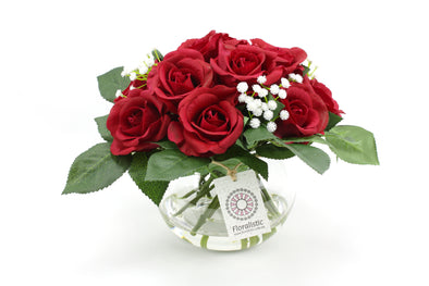 Real touch red rose arrangement