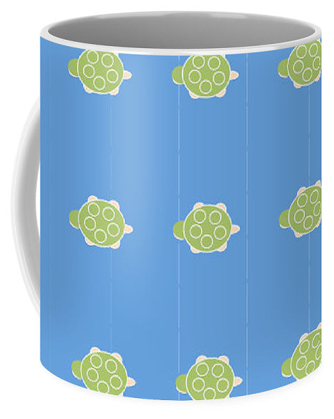 Baby Turtle Flow In Ocean - Mug