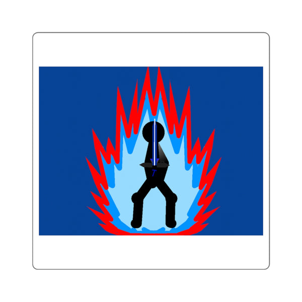 Tai Flame Aura Square Stickers (Navy Blue)