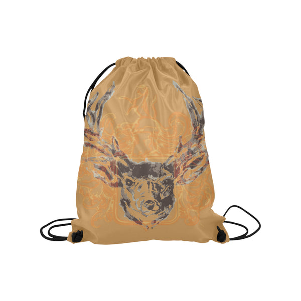 Drawstring Bag-Vintage Stag Design