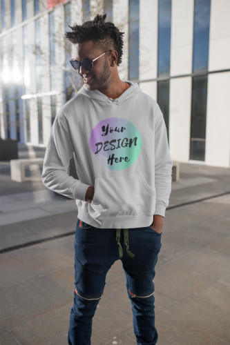 Men's Grey Custom Hoodie