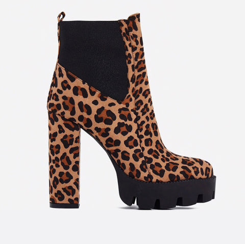 Leopard Print - Ankle Boots - SAUCED