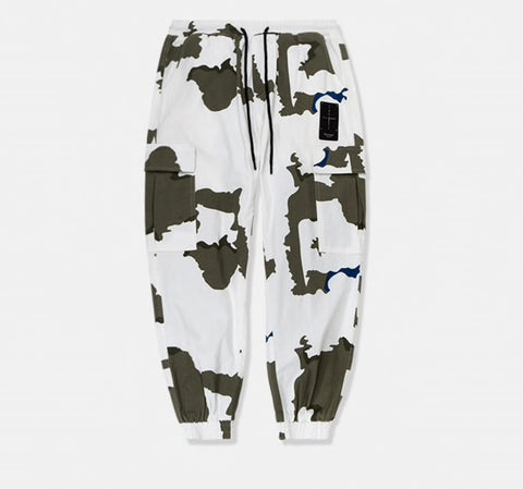 Sauced Camo - White Joggers - SAUCED
